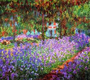 Claude Monet - iris in de Monet jardín