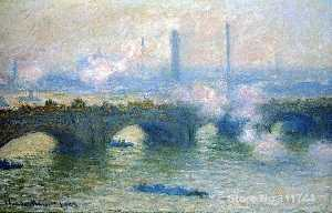Claude Monet - Puente de Waterloo de Londres