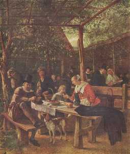 Jan Steen - Jardín bar