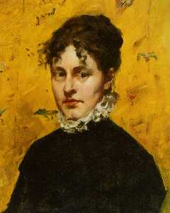 William Merritt Chase - Retrato de la Artist's Sister-..