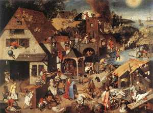 Pieter Bruegel The Younge.. - proverbios holandeses
