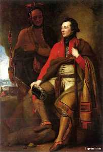 Benjamin West - Botas retrato del coronel Chico Johnson asícomo Karonghyontye