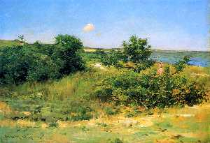 William Merritt Chase - Shinnecock Colinas , Peconic Bahía