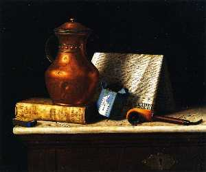 William Michael Harnett - bodegón con cobre  jarra
