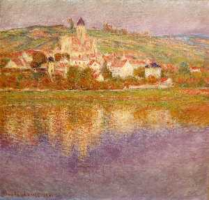 Claude Monet - Vetheuil en Sunset