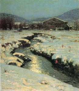 Lowell Birge Harrison - Woodstock meadows en invierno