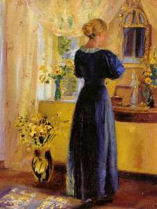 Anna Kirstine Ancher - mujer joven