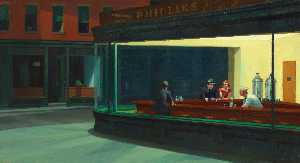 Edward Hopper - Halcones nocturnos , el arte Instituto de Chicago , Chica