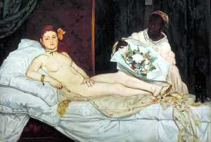 Edouard Manet - Olimpia , Museo d-Orsay , París
