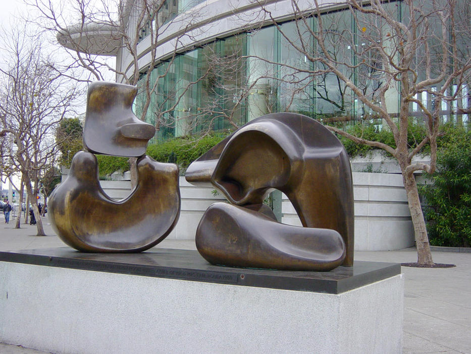 henrymoore5piecefigure, escultura de Henry Moore (1898-1986, United Kingdom)
