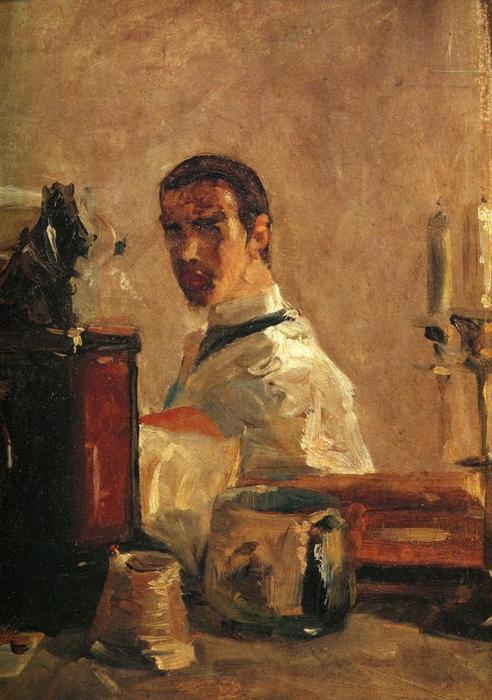 Self-Portrait1, aceite de Henri De Toulouse Lautrec (1864-1901, France)
