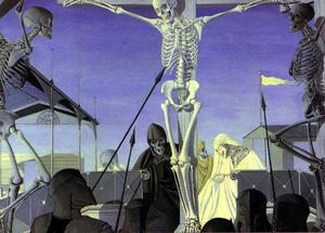 Paul Delvaux - Crucifixión