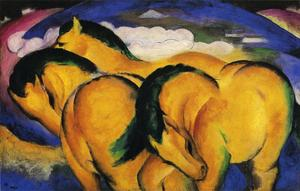 Franz Marc - The Little Yellow Caballo..