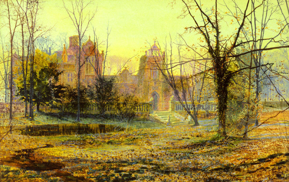 Tarde , knostrop old hall, 1870 de John Atkinson Grimshaw (1836-1893, United Kingdom)