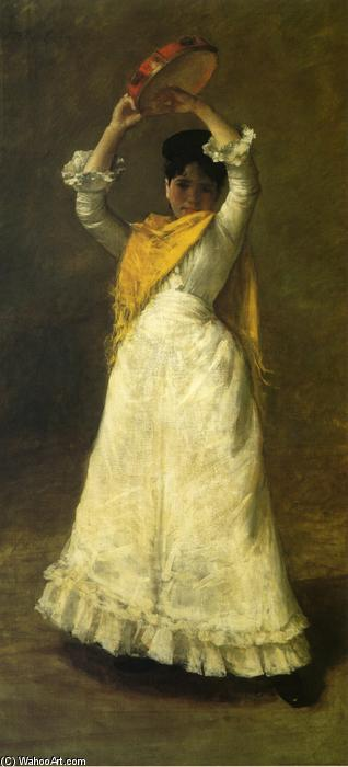 a Madrid baile chica, 1886 de William Merritt Chase (1849-1916, United States)
