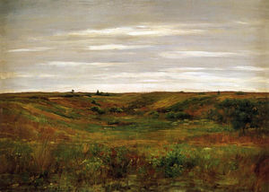 William Merritt Chase - Paisaje - un shinnecock vale
