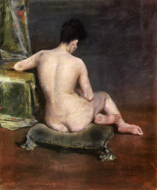 Pure (alias El Modelo), pastel de William Merritt Chase (1849-1916, United States)