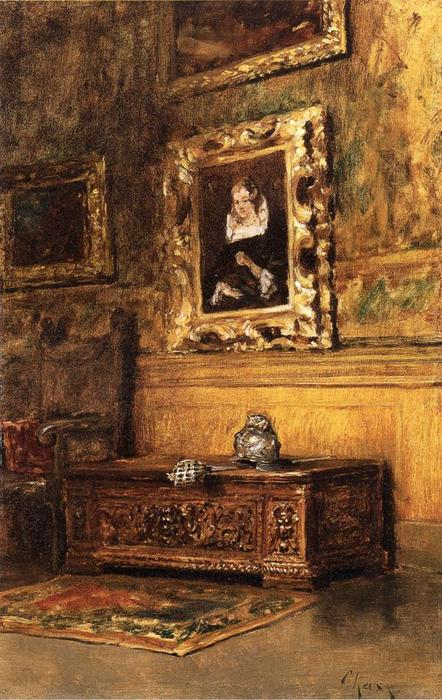 estudio interior, óleo sobre lienzo de William Merritt Chase (1849-1916, United States)