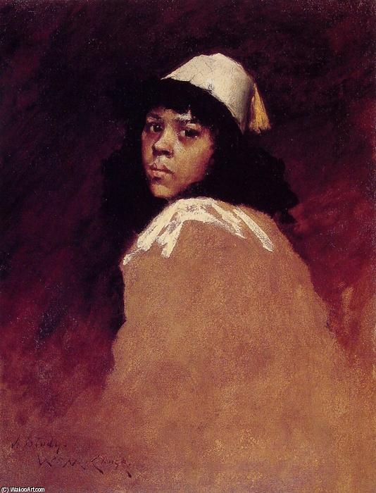 La chica marroquí, óleo sobre lienzo de William Merritt Chase (1849-1916, United States)