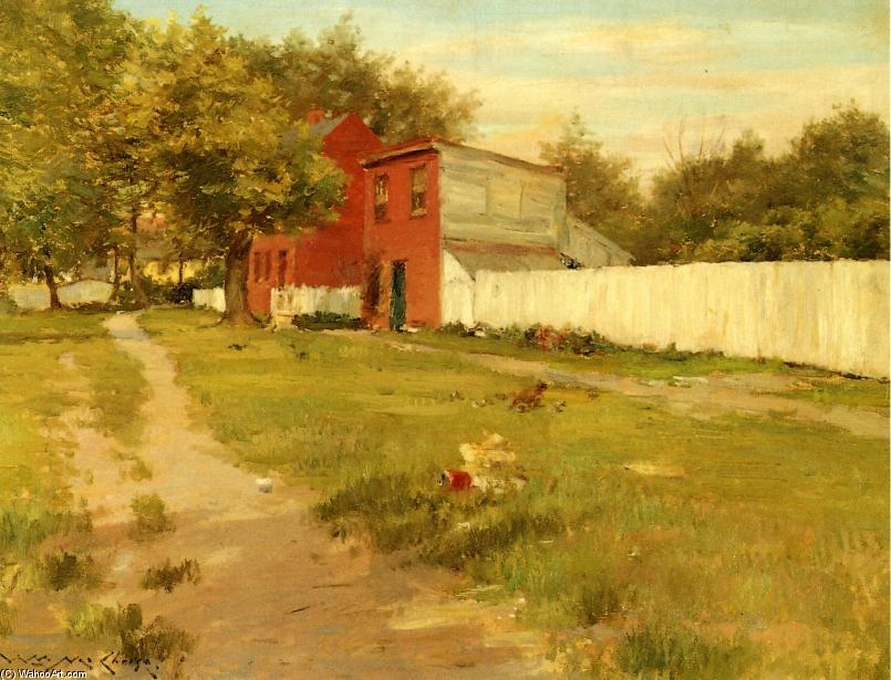 El White Fence de William Merritt Chase (1849-1916, United States)