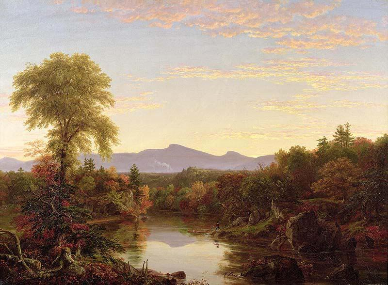 Catskill Arroyo , nueva york, aceite de Thomas Cole (1801-1848, United Kingdom)