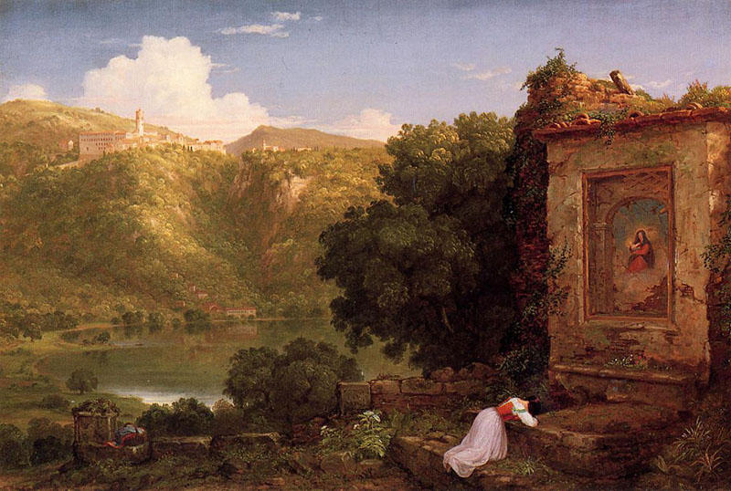Il Penseroso, óleo de Thomas Cole (1801-1848, United Kingdom)