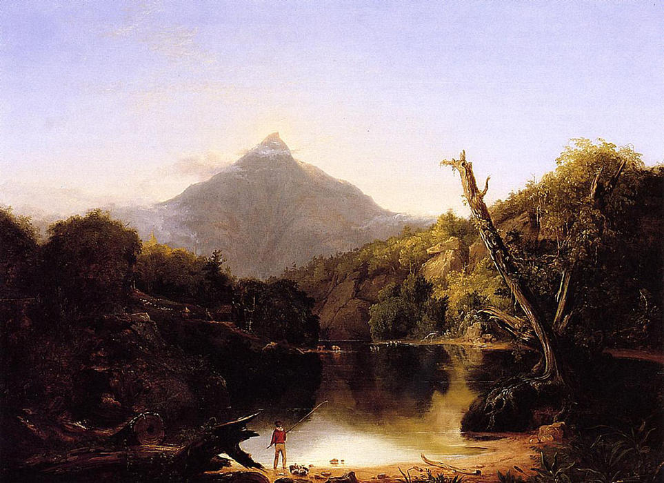 monte chocorua , nueva hampshire, Óleo sobre tabla de Thomas Cole (1801-1848, United Kingdom)