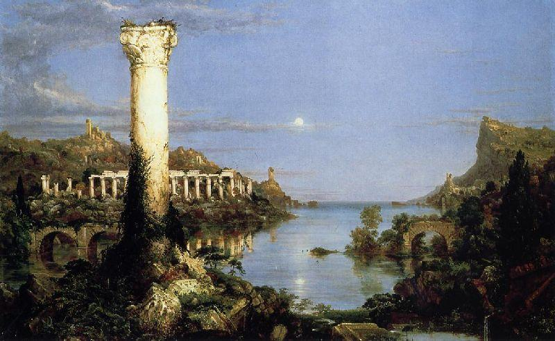 El curso del imperio Desolación , aceite de Thomas Cole (1801-1848, United Kingdom)