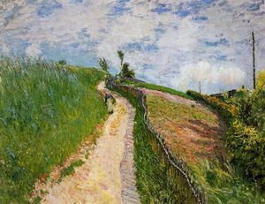 Alfred Sisley - el camino hill , Ville re Avray