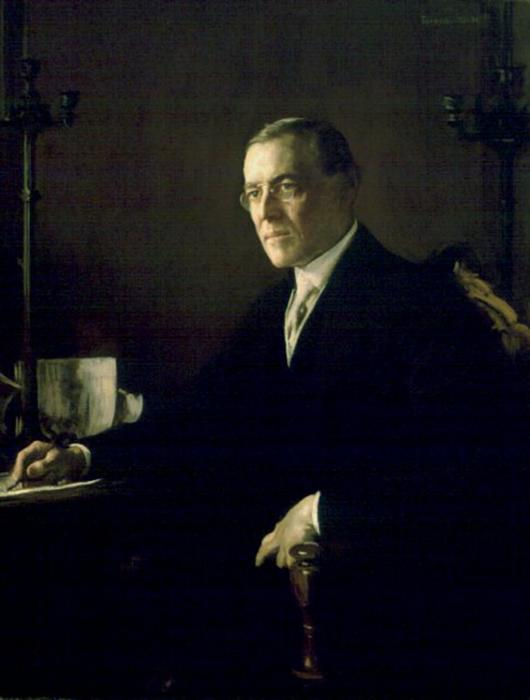 woodrow wilson, aceite de Edmund Charles Tarbell (1862-1938, United States)