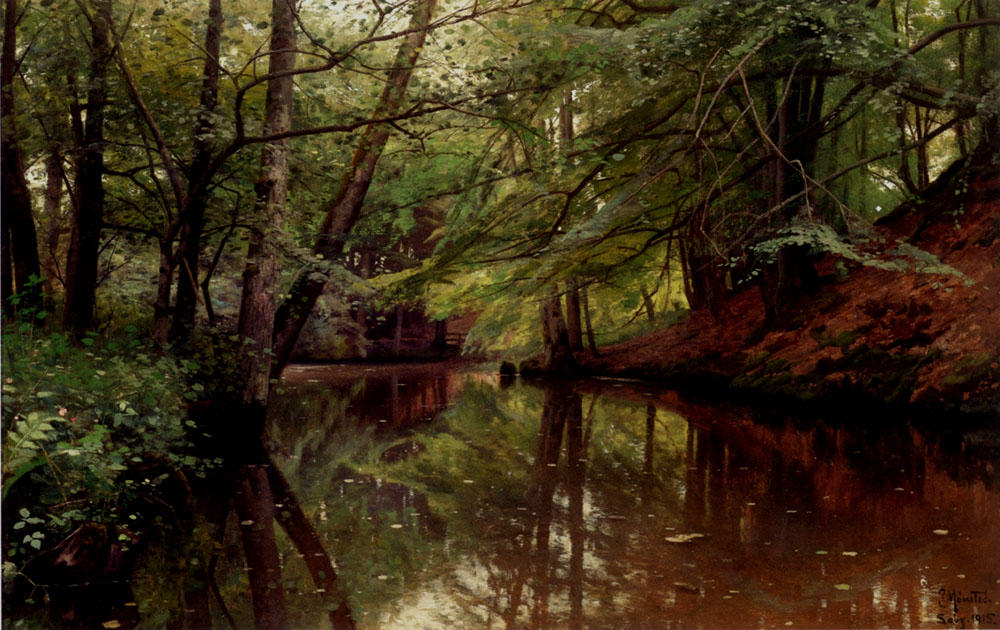 Summertime, Saeby, óleo de Peder Mork Monsted (1859-1941, Denmark)