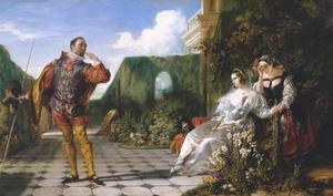 Daniel Maclise - Escena de `Twelfth Night- ( `Malvolio y el Countess- )
