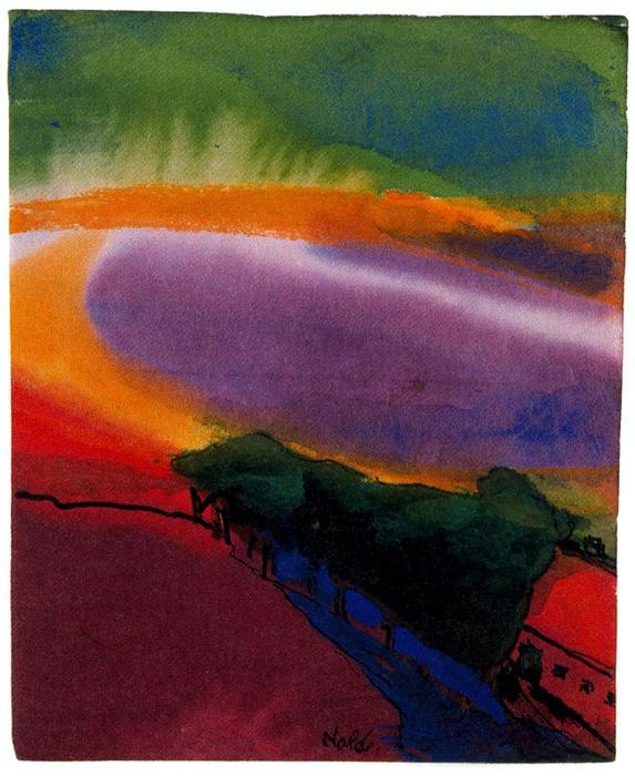 Paisaje ( Red-Yellow-Green ) de Emile Nolde (1867-1956, Germany)