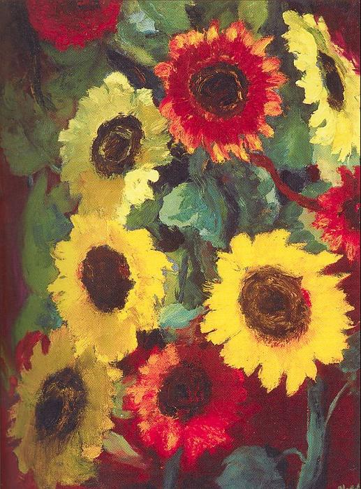 Girasoles de Emile Nolde (1867-1956, Germany)