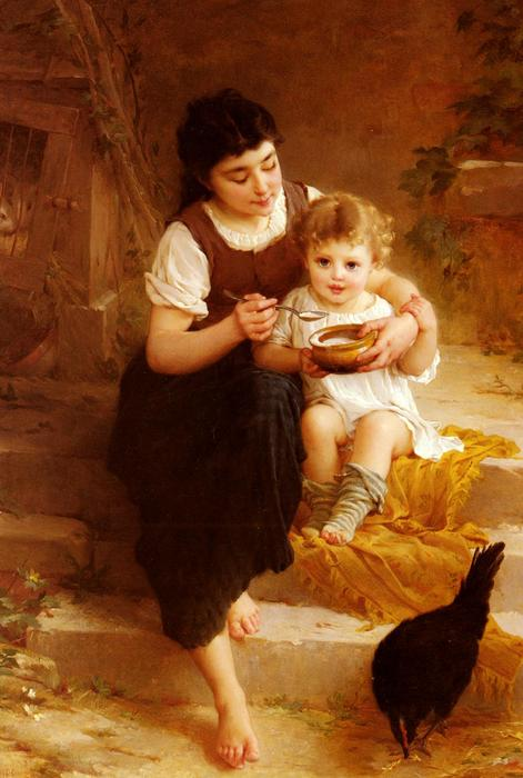el grande hermana de Emile Munier (1840-1895, France)