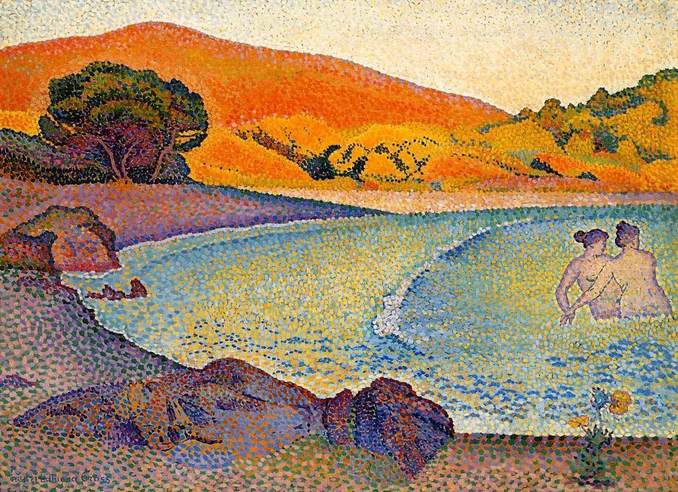 bañistas de Henri Edmond Cross (1856-1910, France)