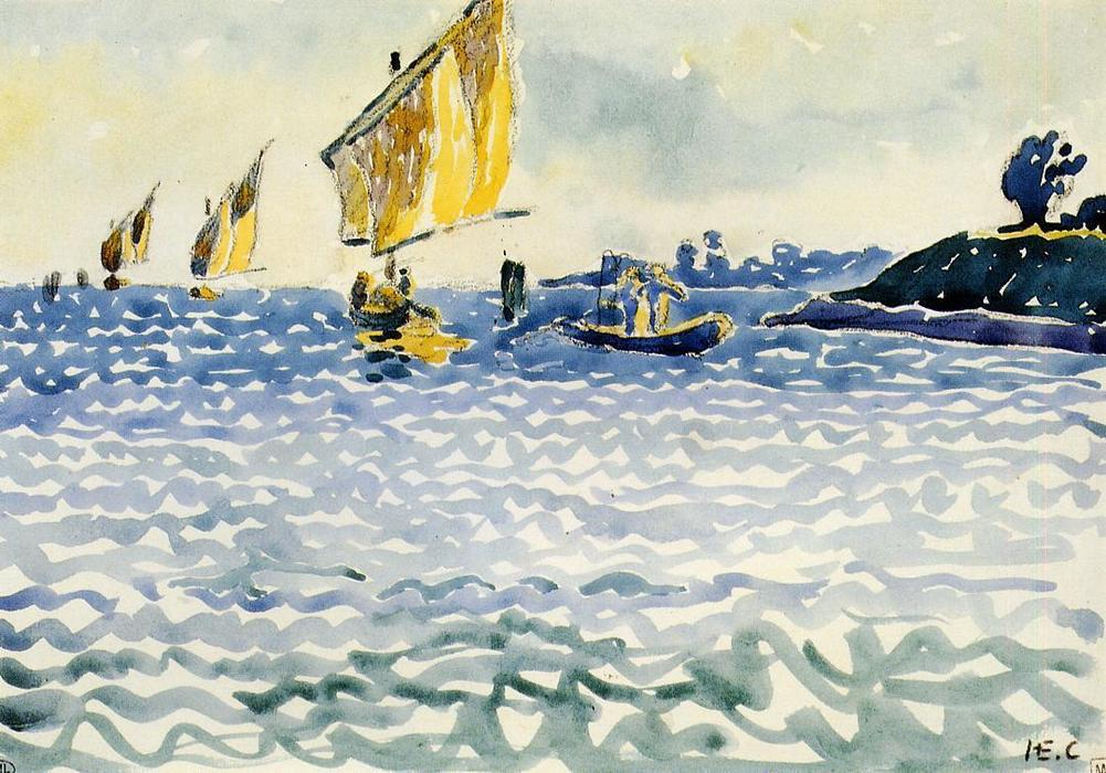 Barcos de Henri Edmond Cross (1856-1910, France)