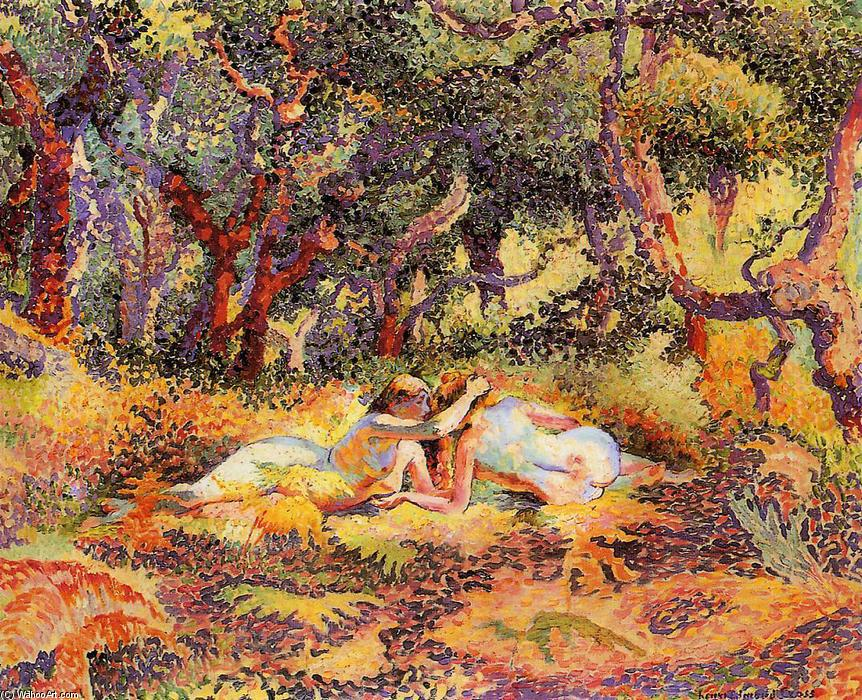 El Bosque, óleo sobre lienzo de Henri Edmond Cross (1856-1910, France)