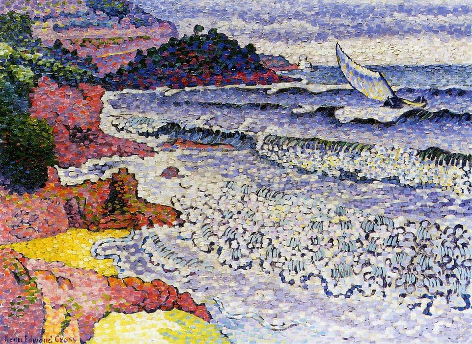 El Mar Pulido, óleo sobre lienzo de Henri Edmond Cross (1856-1910, France)