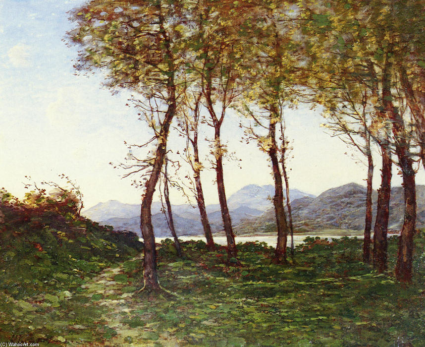 Alrededores De Menton, Le Royal de Henri-Joseph Harpignies (1819-1916, France)