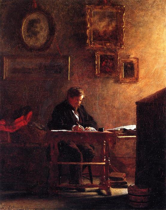 autorretrato 1 de Jonathan Eastman Johnson (1824-1906, United Kingdom)