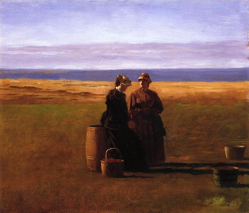 La conversación de Jonathan Eastman Johnson (1824-1906, United Kingdom)