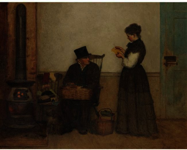 El vendedor ambulante (Nantucket) de Jonathan Eastman Johnson (1824-1906, United Kingdom) | Reproducciones De Arte Del Museo | ArtsDot.com