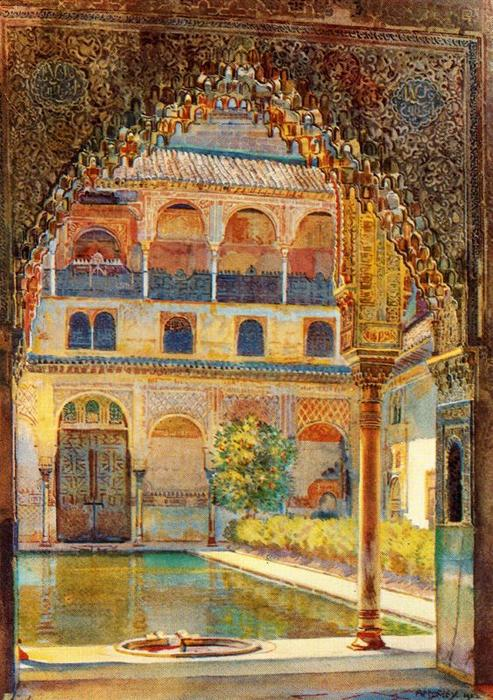 Patio de los Arrayanes de Jorge Apperley (George Owen Wynne Apperley) (1884-1960, United Kingdom)