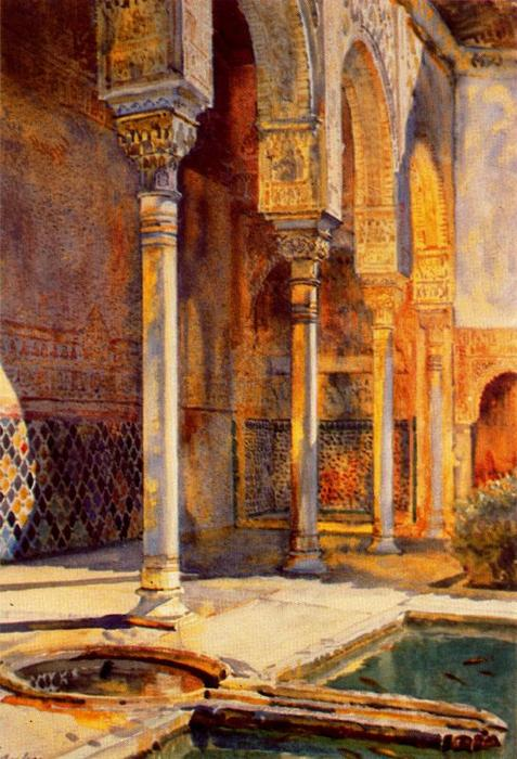 Pórtico del Patio de los Arrayanes de Jorge Apperley (George Owen Wynne Apperley) (1884-1960, United Kingdom)