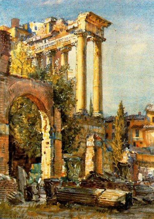 Foro romano de Jorge Apperley (George Owen Wynne Apperley) (1884-1960, United Kingdom)