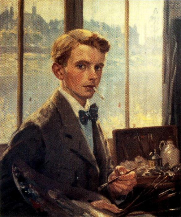 Self-portrait 2 de Jorge Apperley (George Owen Wynne Apperley) (1884-1960, United Kingdom)