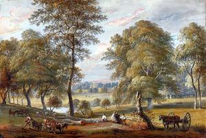 Paul Sandby - Los forestales en Windsor Great Park