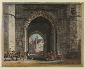 Paul Sandby - Enrique VIII Gateway, el Castillo de Windsor