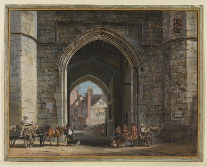 Enrique VIII Gateway, el Castillo de Windsor de Paul Sandby (1798-1863, United Kingdom)